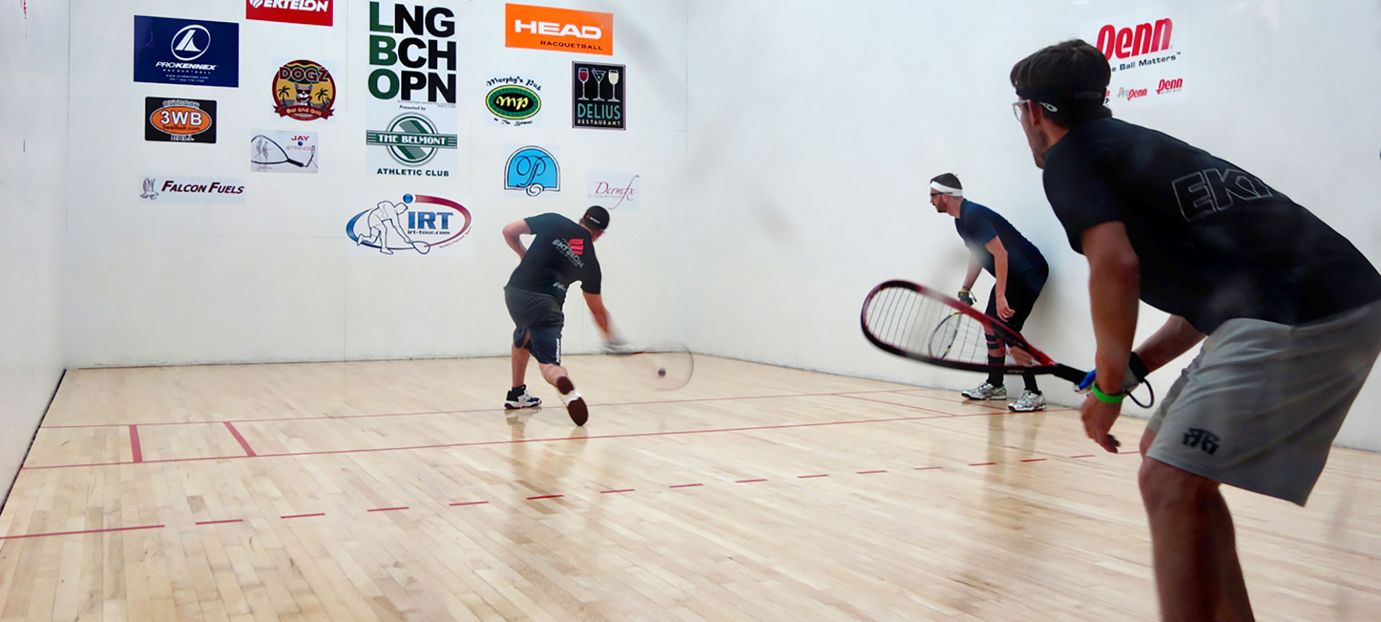 The Belmont Athletic Club has a very active racquetball program. Players from  novice to advanced enjoy the leagues, tournaments and open play.Learn More